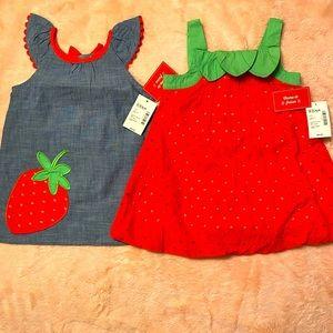 Baby girls 👧 Gymboree matching dress set🍓